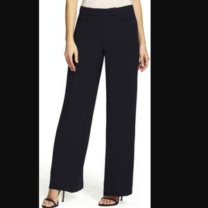 Adrianna Papell  Wide Leg Crepe Pants 12 black
